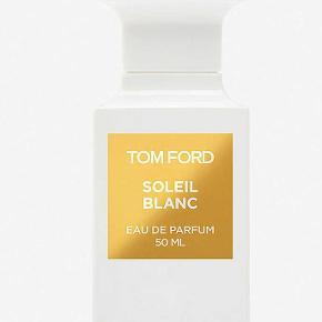 "Tom Fords ""Soleil Blanc"" fra hans private linje i den koncentrede EDP. HELT NY. Købspris 1550kr.  Overraskende. Dragende. Vanedannende.   Notes: Vanilla, Bergamot, Cardamom, Amber, Tonka bean, Coconut milk"