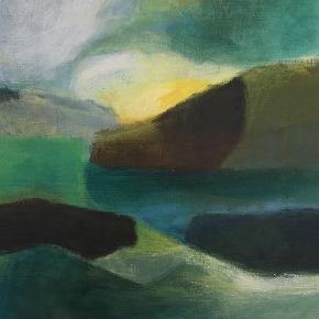 Varetype: Maleri Størrelse: 35 x 40 cm. Farve: Grøn Oprindelig købspris: 2500 kr. Prisen angivet er inklusiv forsendelse.  Nyt akrylmaleri, som ikke har været udstillet endnu. Inspireret af den nordiske natur.  35 x 40 cm. 2500 kr.  Maleriet befinder sig på Amagerbro, Kbh.