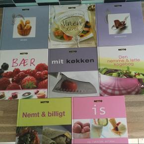 Blandede kogebøger sælges.  5-10kr pr stk