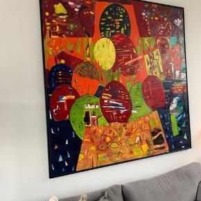 Dejligt stort malerie fra Ulrik Witt. Sælges pga. pladsmangel. Måler : 202 x 213