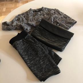 Projekt unknown blondetop str xsOnly nederdel str xs Fed læder vintagemarket sort med slangepræg Samlet  80,-