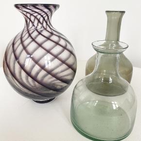 Fine vaser i 14cm, 17cm og 20cm. Priser fra 20-30 og 70kr
