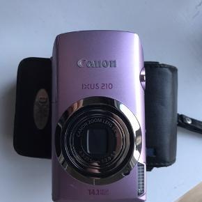 Canon Ixus 210 kamera, brugt meget få gange og fremstår som helt nyt. Sælger da jeg ikke får det brugt 😊 Byd. Kan afhentes i Nordvest lige ved Nørrebro st, eller et andet sted ved aftale.