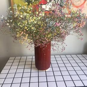 Sjælden ældre Lyngby vase med guld kanter. 20 cm. høj