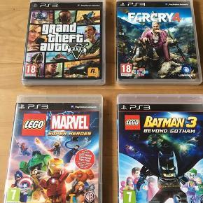 11 spil til PlayStation 3 fremstår i flot stand Alle spil er originale Samlet pris 350 kr eller 40 kr pr stk Kan sendes / hentes Esbjerg 6715