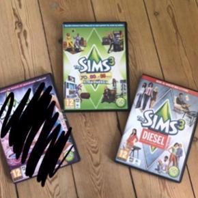 Sælger mine to Sims 3 spil