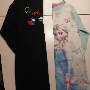 Str 122-128 mærker fra Name it, H&M og Netto 2 stk natkjole med lange ærmer 2 sæt med lange ben og korte ærmer På det lyse sæt en lille bitte streg fra en tus ses ikke når det er på