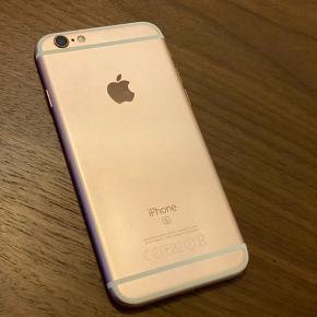 Iphone 6S, 32 gb, rosegold, 2,5 år gammel. Har altid været i cover, så minimalt hvad der er af ridser.