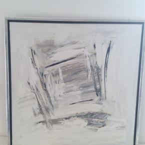 Fint maleri i neutrale farver. 66 x 66 cm. Befinder sig i Jyllinge.