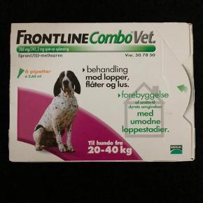 Uåbnet pakke frontline til hunde mellem 20 og 40 kg