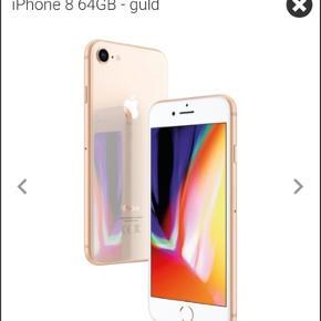 IPhone 8. Gold. 64 GB. Ligger i uåbnet kasse. Fejlkøb. Kvittering/ garantibevis medfølger.
