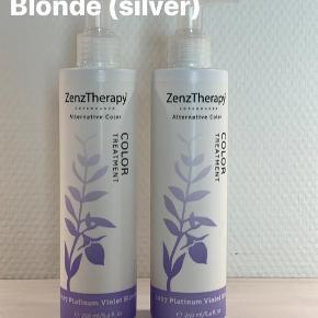 Nye og uåbnede. Prisen er pr stk. Vejl. pris er 169 kr/stk Zenz Therapy Color Treatment er en farveopfriskende conditioner/farvebombe, der er velegnet til alle hårtyper. Denne farvebalsam matcher frisørens professionelle farvesystem ZenzTherapy Alternative Color.  Zenz Therapy Color Treatment egenskaber  - genopfrisker hårfarven - giver glans - giver blødhed - holder 1-3 hårvaske - uden parabener  Sådan bruger du Zenz Therapy Color Treatment   - Påfør i nyvasket, fugtigt hår - Brug ALTID handsker ved påføringen - Fordel balsam jævnt i håret - enten med hænderne eller en kam/børste - Frisér håret igennem, og lad produktet virke i håret i ca 3 minutter - Skyl herefter grundigt  BEMÆRK: Color Treatment Bør ikke påføres på hårbunden eller på huden. Hvis farvecremen kommer på huden, vaskes den af med vand og shampoo.