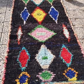 NY Håndlavet Marokkansk tæppe Bomulds tæppe, Marokkansk tæppe,  boucherouite tæppe, Kan vaskes i vaske maskine.   De venligst mine andre annoncer  Levering eller forsendelse gratis. 14 dage bytte garanti  Måler 260 x 135 cm