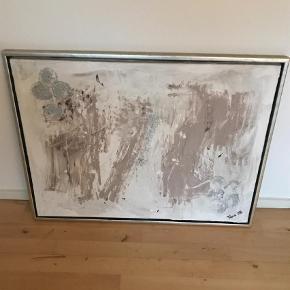 Varetype: Maleri Størrelse: 84x64 Farve: Hvid Oprindelig købspris: 1000 kr.