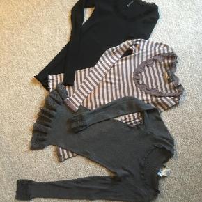 Varetype: Bluse Farve: Grå  Brun Rosemunde str M *SOLGT  Grå bluse fra Rosemunde str 14 år / fitter også en xs/s  Sort bluse fra Sotaconcept str S *SOLGT