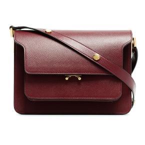 Marni trunk taske i Bordeaux / rød / mørkerød. Dustbag og rem-forlængelse hører med 💕  Forbeholder mig retten til ikke at sælge, hvis rette pris ikke opnås