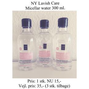Brand: Lavish Care Varetype: Micellar water  Str.: 300 ml.  Prisen er pr stk. Nye og uåbnede ☀️