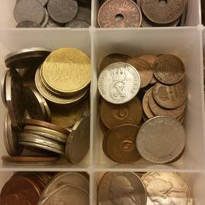 3 kg. mønter fra forskellige lande.