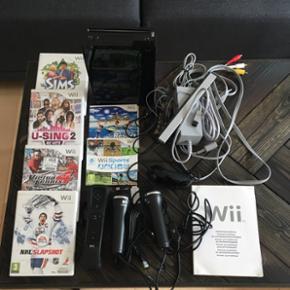 Nintendo Wii 6 spil. 2 microfoner. Kom med et bud