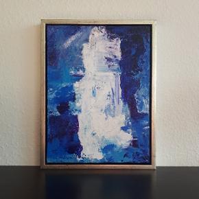 Akrylmaleri på lærred   Måler 30 × 40 cm (33,5 × 43,5 cm med ramme)  Hvis man ønsker det, fås det med ramme uden ekstra beregning. Da den er beskadiget.  Hentes i Roskilde