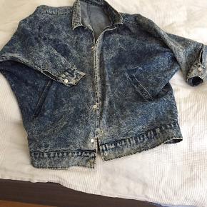 Genbrugs jakke, oversize denimjakke