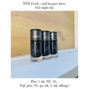 NYE Gosh - nail lacquer farve 632 night sky  Pris: 1 stk. NU 10,- Vejl. pris: 70,- pr. stk. (1 stk. tilbage)