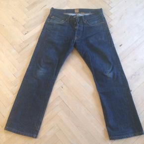 Selvage jeans fra Indigofera.  De er 31 i liv og syet op til 31 længde