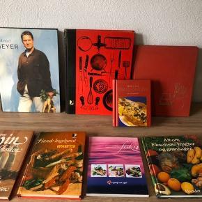 Madbøger 10-25 kr pr stk  Bl.a. Meyer mfl.