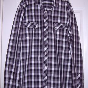 Jack & Jones klassisk ternet skjorte sort/hvid tern str. XL
