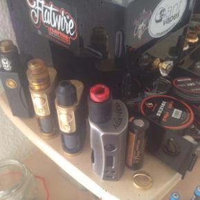 Complete vape/Squonk collection for sale with all tools,Squonkers,Rda's,coils/wire,VG and PG Multiple liters aroma's boxes full of new rda's a vapenut aircleaner I still have all original boxes.I collected for years come with a serious bid