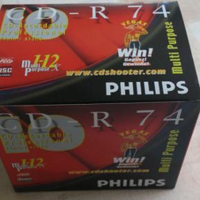 CD-ROM 650MB Til musik eller billeder 10 stk ubrugt i æsken  5 æsker for 80 kr