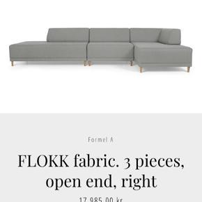 Formel A Flokk sofa, tre moduler, samme opsætning som på billedet, dog uden chaiselong