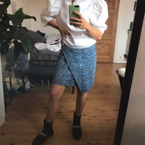 Gestuz nederdel i ægte læder   ALDRIG BRUGT