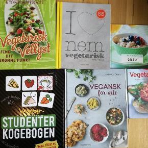 Forskellige vegetar og veganske kogebøger.  Byd  Kig også gerne i andre annoncer, mængderabat gives. Sender, køber betaler porto 😊 Afhentning i KBH NV.