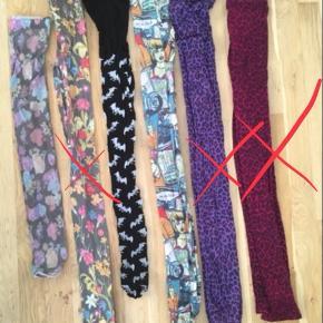 Strømpebukser (to midterste) og leggings (fire yderste) - flotte mønstre 😍 1 stk for 10kr