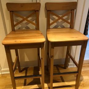 Ingolf barstole fra Ikea. Sælges samlet 2 stk 1200 kr