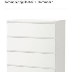 2 stk. hvid IKEA malm kommoder  550 kr. for begge  Afhentes i Århus C