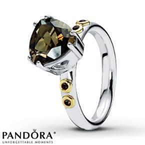 Pandora sølv og guld ring