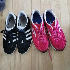 Adidas pink, 37,5 og sort, 36,5