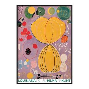 Hilma af klint plakat for Louisiana sælges for 200kr.  Den måler 97,7 x 140,2 cm.  Sælges uden ramme.