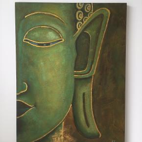 Smukt maleri med flot effekt. måler 120 x 90 cm. Afhentes...