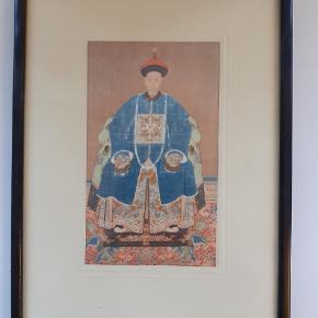 17x24.5 cm gl asiatisk illustration. 4 billeder for 400 kr