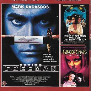 0073 - 3 Riple movies vol. 39 (DVD)  Dansk Tekst - NY Film er ny men er ikke i folie   Crying freeman  Shriek if you know Ginger snaps