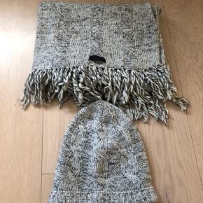 Hue + tørklæde, 80 pct uld