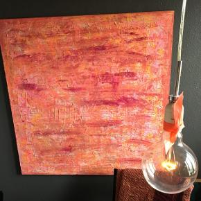 Maleri  skønne  farver str. 100 x 100 🌺🌺🌺