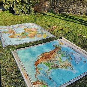 Gamle Landkort super flotte og velholdte Afrika og Nord amerika. Sendes ikke, skal afhentes på adressen. Giv et bud