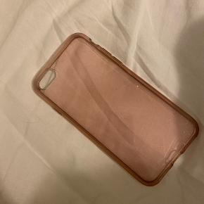 Gennemsigtig pink glimmer/glitter cover til iPhone 8!   Giver mængderabat:)