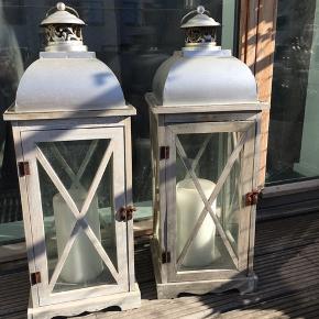 Lanterner 2 stk. Afhentes Kbh V eller leveres i Kbh området mod betaling