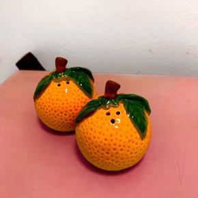 Sælger dette appelsin salt og peber sæt. 🍊