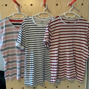 - All 3 for 100DKK - Pink and Red Shirts fit like S - Black/white shirt fits like M - you can also buy them separately